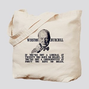 Churchill on Conservatives Tote Bag