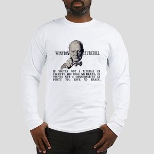 Churchill on Conservatives Long Sleeve T-Shirt
