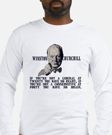 Churchill on Conservatives Long Sleeve T-Shirt
