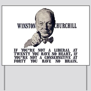 Churchill on Conservatives Yard Sign