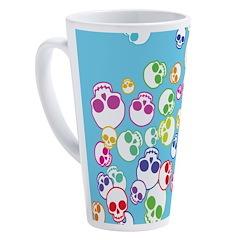 Colorful Skulls 17 oz Latte Mug