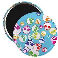 Colorful Skulls Magnet