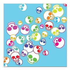 Colorful Skulls Square Car Magnet 3