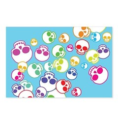 Colorful Skulls Postcards (Package of 8)