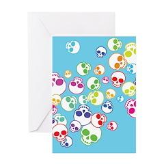 Colorful Skulls Greeting Card