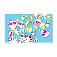 Colorful Skulls Car Magnet 20 x 12