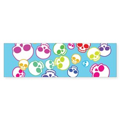 Colorful Skulls Sticker (Bumper)