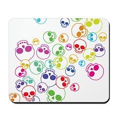 Colorful Skulls Mousepad