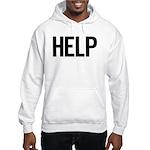 Help (black) Hooded Sweatshirt