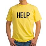 Help (black) Yellow T-Shirt