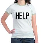 Help (black) Jr. Ringer T-Shirt