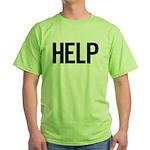 Help (black) Green T-Shirt