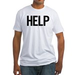 Help (black) Fitted T-Shirt