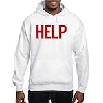 Help (red) Hooded Sweatshirt