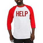 Help (red) Baseball Jersey