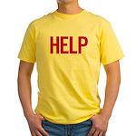 Help (red) Yellow T-Shirt