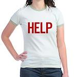 Help (red) Jr. Ringer T-Shirt