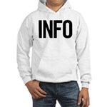 Info (black) Hooded Sweatshirt