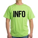Info (black) Green T-Shirt
