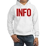 Info (red) Hooded Sweatshirt