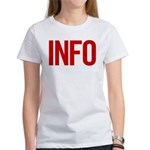 Info (red) Women's T-Shirt