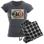 Vote Trump 2020 Women's Charcoal Pajamas