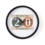 Vote Trump 2020 Wall Clock