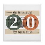 Vote Trump 2020 Tile Coaster