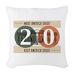 Vote Trump 2020 Woven Throw Pillow