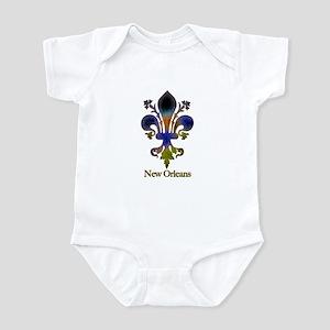 New Orleans colorful Fleur Infant Creeper