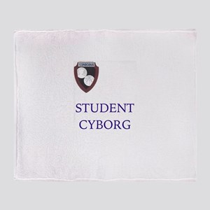Student Cyborg Throw Blanket