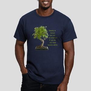 Bonsai Beauty Men's Fitted T-Shirt (dark)