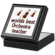 Worlds Best Orchestra Teacher Keepsake Box