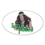 Hair Peace Sticker (Oval 10 pk)