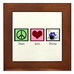Peace Love Drums Framed Tile