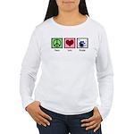 Peace Love Drums Women's Long Sleeve T-Shirt