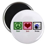 Peace Love Drums Magnet