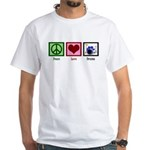 Peace Love Drums White T-Shirt