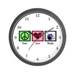 Peace Love Drums Wall Clock