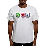 Peace Love Drums Light T-Shirt