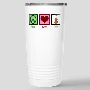 Peace Love Cello Stainless Steel Travel Mug