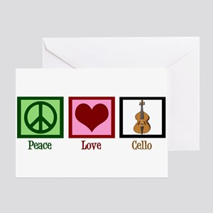Peace Love Cello Greeting Card