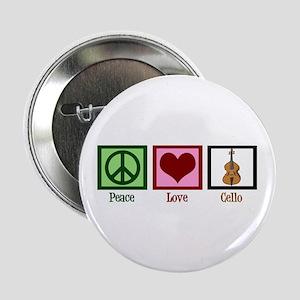 "Peace Love Cello 2.25"" Button"