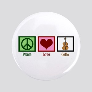 "Peace Love Cello 3.5"" Button"