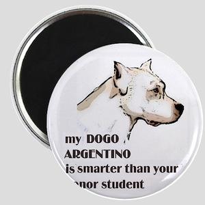 smart dogo argentino Magnet