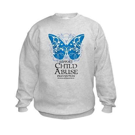 Child Abuse Butterfly Kids Sweatshirt
