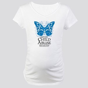 Child Abuse Butterfly Maternity T-Shirt