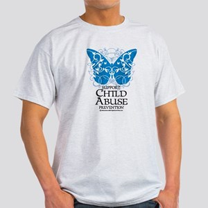Child Abuse Butterfly Light T-Shirt