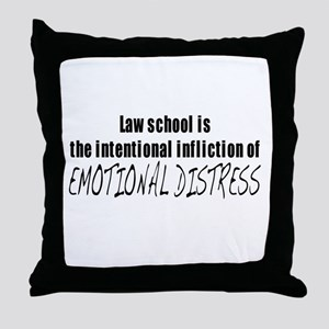 Intentional Infliction of Emo Throw Pillow