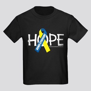 Down Syndrome Hope Kids Dark T-Shirt
